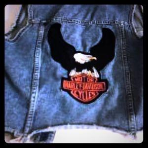 Size small Harley Davidson jeans vest
